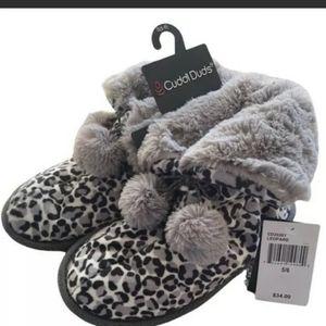 Cuddl Duds slipper booties 5-6